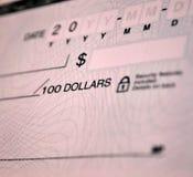 Standard bank check Stock Photography