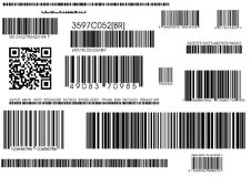 Standard barcodes and shipping barcode Stock Photos