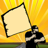 The Standard-Bearer - Marching To Success Stock Photo