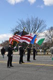 Standard-bearers of the Saint Patrick's Day Parade Stock Image
