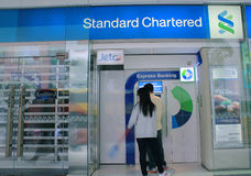 Standard Chartered-Bank in Hong Kong Stockbilder