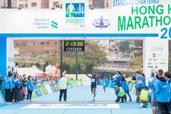 Standard Chartered Hong Kong Marathon 2018 Photo stock