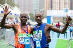 Standard Chartered Hong Kong Marathon 2018 imagem de stock