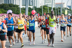 Standard chartered marathon singapore 2010 Stock Photos