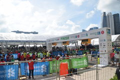 Standard Chartered Marathon Singapore 2015 Finishing Line Stock Photo
