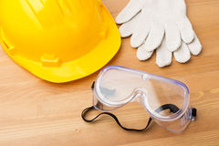 Standard construction safety equipment Stock Photography