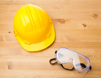 Standard construction safety equipment Royalty Free Stock Images