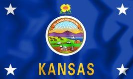 Standard des Gouverneurs von Kansas, USA Lizenzfreie Stockfotografie