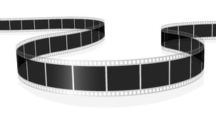Standard film. Vector illustration of standard photo or movie film isolated on white background Stock Photo