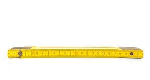 Standard folding meter stick Royalty Free Stock Photography