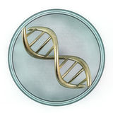 Standard of fragment of human DNA. 3D Royalty Free Stock Photo