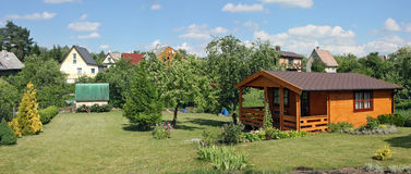 Standard garden lodges Stock Photography