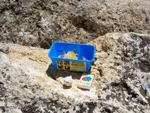 Standard Geocaching Container. Standard Tupperware Style Geocaching Container Stock Photos