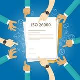 Standard-Geschäftsbefolgung sozialer Verantwortung ISO 26000 zum Rechnungsprüfungs-Kontrolldokument der internationalen Organisat Stockfotografie