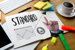 STANDARD go Quality Assurance , Standard Operating Procedure , I Royalty Free Stock Photography