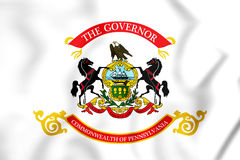 Standard of the Governor of Pennsylvania, USA. Royalty Free Stock Images