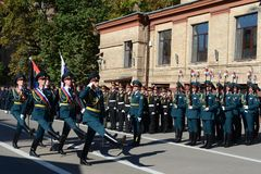 The standard group of the honor guard, internal troops of the MIA of Russia Stock Photography