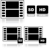Standard and high definition movies Royalty Free Stock Photography