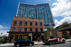 The  Standard Hotel and High Line Park in New York City Stock Images