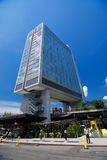 The  Standard Hotel and High Line Park in New York City. On a sunny day Royalty Free Stock Photography