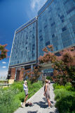 The  Standard Hotel and High Line Park in New York City. On a sunny day Royalty Free Stock Image