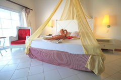 Standard hotel room in Sol Cayo Guillermo. Royalty Free Stock Images