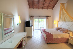 Standard hotel room in Sol Cayo Guillermo. Royalty Free Stock Photography