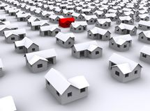 Standard houses on a white background Royalty Free Stock Photo