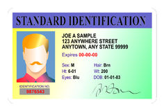 Standard Identification card Stock Photography
