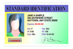 Standard Identification card Stock Photos