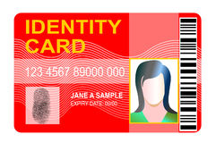 Standard Identification card Royalty Free Stock Photos