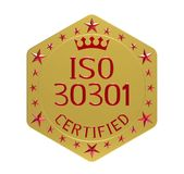 Standard ISO 30301 Stockfotografie