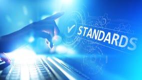 standard Kontrola jakości ISO certyfikat, zapewnienie i gwarancja, Internetowy biznesowy technologii pojęcie obrazy stock