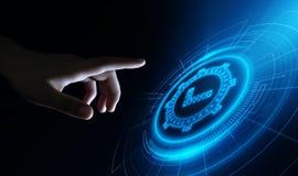 Standard - kontrola jakości certyfikata zapewnienia gwaranci technologii Internetowy Biznesowy pojęcie ilustracji