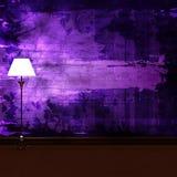 Standard lamp in dark minimalist interior Stock Photo
