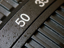 Standard lens. Close-up of a standard lens - 50 mm focal length stock image