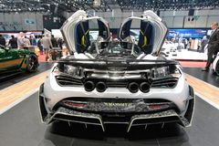 88th Geneva International Motor Show 2018 - Mansory McLaren 720S First Edition royalty free stock photo