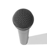 Standard microphone. This microphone is a copy of a shure SM58 or SM57 (not certain), one of the most popular in the market royalty free stock images