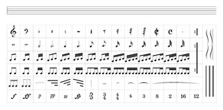 Standard musikpersonal Royaltyfri Bild