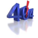 Standard 404 not found error code Royalty Free Stock Photo