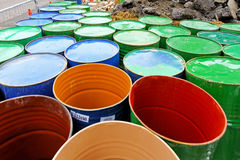 Standard oil barrels Royalty Free Stock Photography
