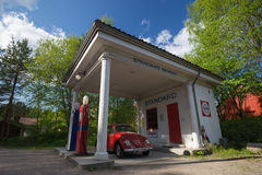 Standard Oil gas filling station from 1928 relocated to the Norwegian Folk Museum in Oslo from Holmestrand Stock Images