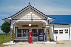 Standard Oil Gas Station on the Route 66 in Odell, Illinois. stock photography