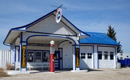 Standard Oul bensinstation Arkivfoton