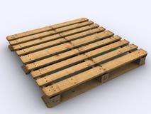 Standard palett for chemical logistic. Single standard palett for chemical logistic Stock Photos