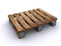 Standard palett for food logistic. Single standard palett for food logistic Stock Photography