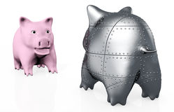 A stranger pig piggy Royalty Free Stock Photo