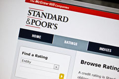 Standard & Poor's website Royalty Free Stock Photography