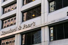"Standard and Poors in New York. New York City, USA - May 19, 2014: The headquarter of the american financial company ""standard and poor's"" in lower Royalty Free Stock Image"