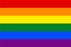 Standard Proportions for Gay Flag. Homosexual Stock Image